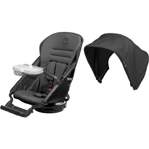 Orbit Baby G3 Stroller Seat + Sunshade, Black front-738646