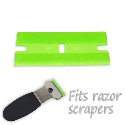 25Pc Plastic Razor Blades Non-Scratch Scraping Sticker Label Removal front-1048273