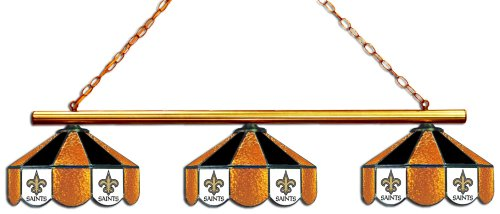 NFL New Orleans Saints Three Shade Stained Glass Billiard Table Lamp at Amazon.com