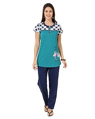 AV2 Women's Solid Top & Pyjama Set