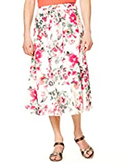 Classic Collection Pure Cotton Floral Skirt