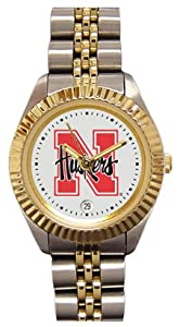 Nebraska Cornhuskers- (University of) Ladies Executive Stainless Steel Sports Watch by SportsMagicK