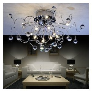 modern crystal chandelier with 11 lights crystal ceiling