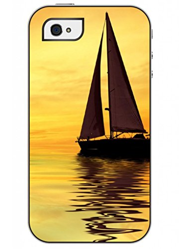 Ouo Fashion Design Of Sailing Boat Cool Unique High Quality Slim Fit Iphone 4 4S Case For Girls