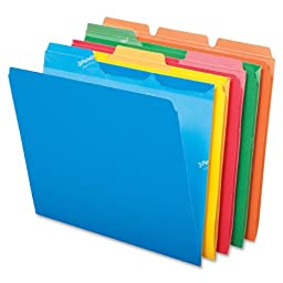 Pendaflex Ready-Tab Reinforced File Foldes, 3 Tab Position, 50 Per Box, Assorted Colors (42338)