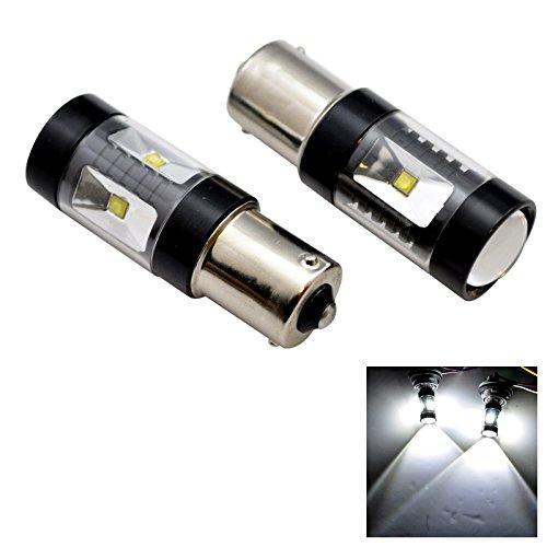2 X Projection 1156 Ba15S 180 Degree Led 6000K White Reverse Tail Signal Light