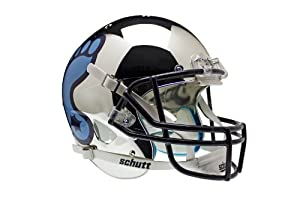 NCAA North Carolina Tar Heels Replica XP Helmet - Alternate 3 (Chrome) by Schutt