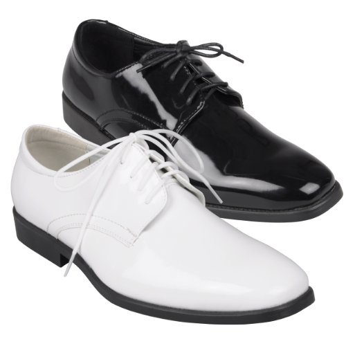 9. Daxx Mens Lace-up Tuxedo Shoes