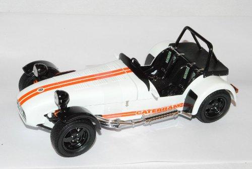 Caterham 1985 Super Seven 7 Weiss Orange 1/18 Kyosho Modell Auto