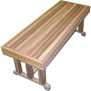 100 Red Cedar Garden Bench 18 X 42 Outdoor Benches Patio Lawn Garden