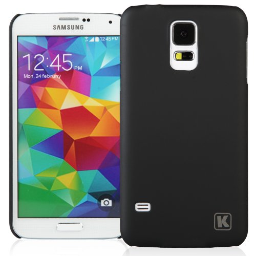 KAYSCASE Slim Hard Shell Cover Case for Samsung Galaxy S5 Smart Phone 2014 Version (Lifetime Warranty) (Black)