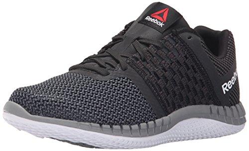 Reebok Women's Zprint Running Shoe, Black/Gravel/Tin Grey/Black Reflective/White, 8.5 M US (Reebok Running Shoes Women compare prices)