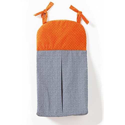 One Grace Place Teyo's Tires Diaper Stacker, Grey/Orange