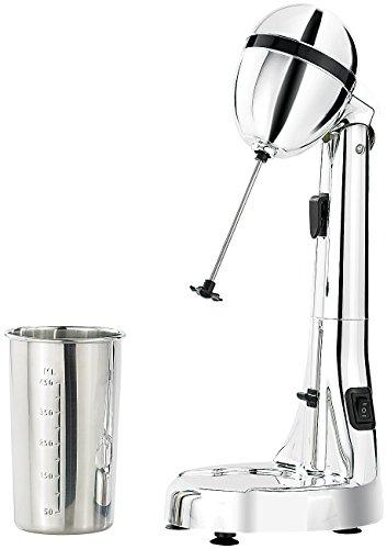 Rosenstein & Söhne Elektrischer Drink-Mixer mit Edelstahl-Becher, 100 W, 22.000 U/Min.