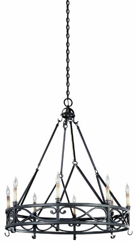 World Imports Lighting 80018-85 Chaumont 8-Light Chandelier, Textured Rust