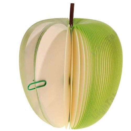 Goldensunsky Green Fruit Apple Shaped Memo Paper