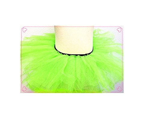 Pink - Girls Basic Ballerina Tutu Ballet Dress-up 3 Layer Tulle Skirt (Green)