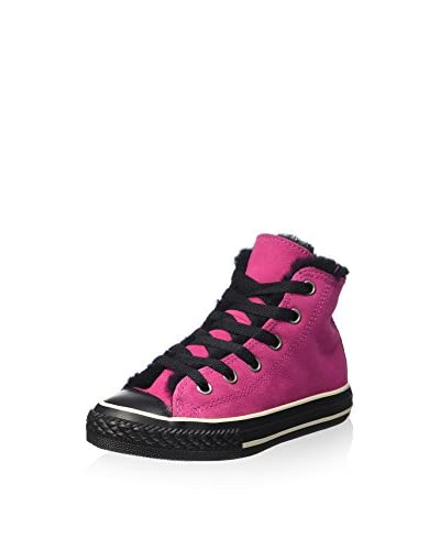 Converse Hightop Sneaker pink/schwarz