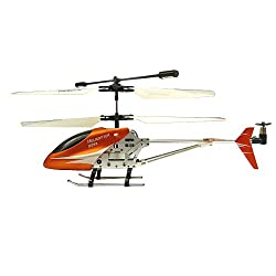 "3 Channel 7.68"" Double Horse 9098 3 Channel Metal Remote Controlled Indoor Helicopter Built-in Gyroscope (Orange)"