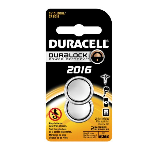 Duracell DL2016B2PK08 Lithium Coin Battery, 2016 Size, 3V, 85 mAh Capacity (Case of 6 Cards, 2 Unit per Card) - 1