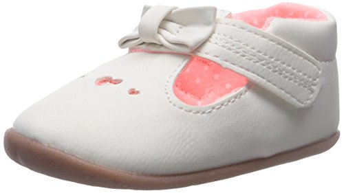 Carter's Every Step Becca Stage 2 Girls T-Strap (Infant/Toddler), White/Pink, 4 M US Toddler