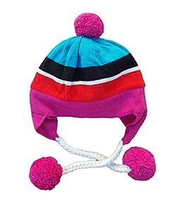 Kate Spade Multi Stripe Pom Pom Ski Hat