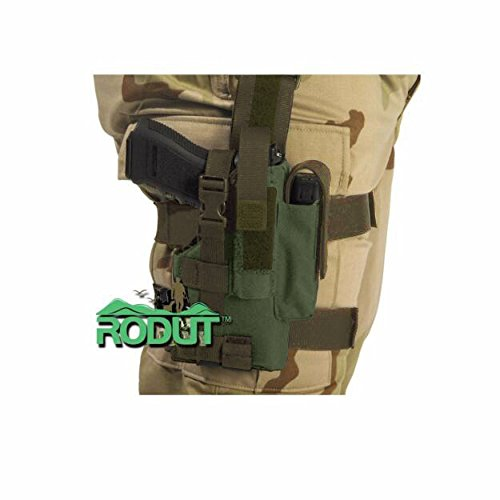 Rodut (TM) Adjustable Right Handed Tactical Leg Holster For Pistol, (OD Green)