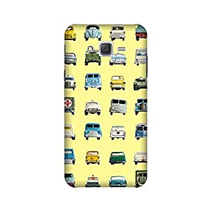Samsung Galaxy ON7 2015 Perfect fit Matte finishing Cars Patterns & Ethnic Mobile Backcover designed by Aaranis(Yellow)