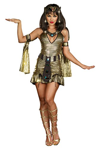 Dreamgirl Womens Sexy Naughty On The Nile Egyptian Queen Fancy Halloween Costume
