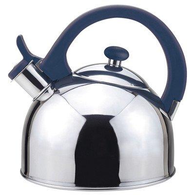 Magefesa 2.1-Quart Acacia Stainless Steel Tea Kettle, Blue