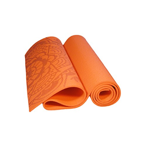 Hathafit Premium Yoga Mat Orange Sporting Goods Exercise
