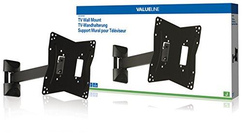 VALUELINE Arm Gelenk TV-Wandhalterung 26 27 28 29 30 31 32 33 34 35 36 37 38 39 40 41 42 ZOLL 66 - 107 cm 30 kg beweglich neigbar schwenkbar zb. für toshiba / Panasonic / Samsung / LG / Medion / Loewe Fernseher