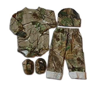 Amazon.com: Realtree Baby Set - Infant Boys APG LS Creeper Pants ...