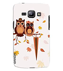 Omnam Two Owl On One Tree Printed Designer Back Cover Case For Samsung Galaxy J1