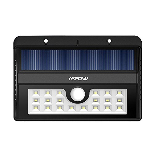Mpow Solar light, Bright 20 LED Outdoor Lighting Motion Sensor Wall Lights for Driveway Garden Path (Motion Sensor Driveway Light compare prices)