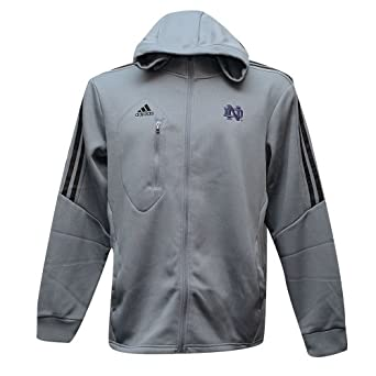Notre Dame Fighting Irish Adidas Climawarm Full Zip Hoody Grey by adidas
