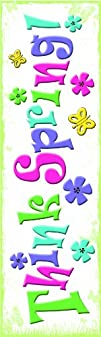 Easter Spring Decorations Reusable Window Gel Clings 6 x
