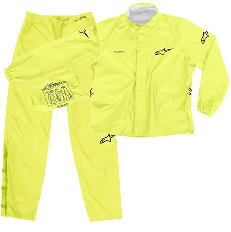 Alpinestars Quick Seal Out Motorcycle Rainsuit Jacket and Pants Yellow (Large 2851-0383)