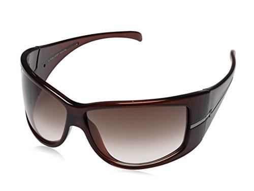 Police Police Rectangular Sunglasses (Brown) (S1586|Z90X|Free Size)