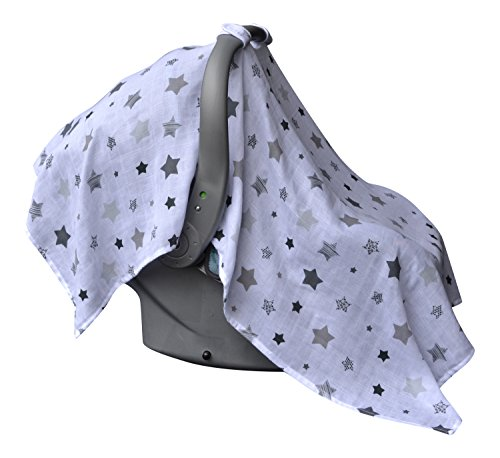 barnaby belle 39 night 39 baby car seat covers girls or boys infant carseat canopy cover toddler. Black Bedroom Furniture Sets. Home Design Ideas