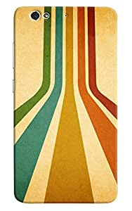 Omnam Stripes Pattern Printed Designer Back Cover Case For Gionee S6