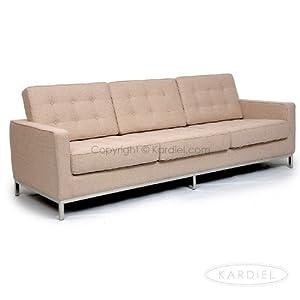 New Kardiel Florence Knoll Style Sofa 3 Seat Aureo Crema