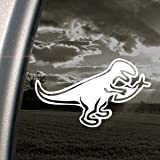 Dinosaur Eating Jesus Fish Evolve Decal Car Sticker