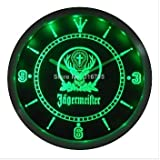 Jagermeister Neon LED Wall Clock