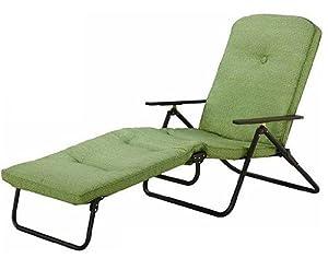 Amazon Com Mainstays Padded Folding Chaise Lounge Green