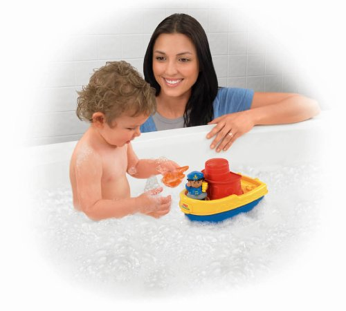 41VH3qMG9PL Cheap  Fisher Price Little People Play n Float Bath Boat