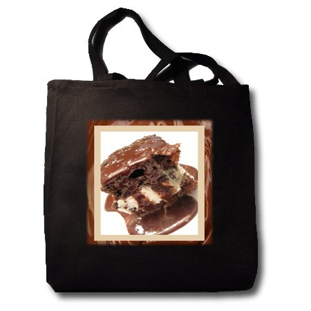 Hot Fudge Sundae Cake - Black Tote Bag JUMBO 20w X 15h X 5d