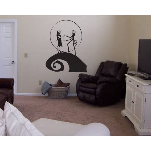 Nightmare Before Christmas Jack and Sally Vinyl Wall Decal Decor ...