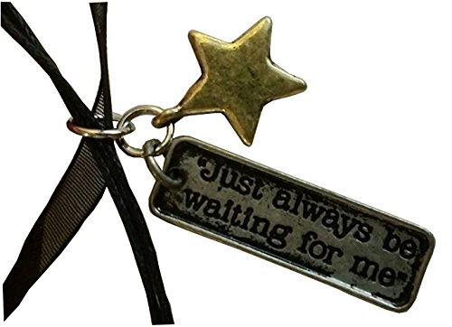 Peter Pan Just Always Be Waiting for Me Pendant on a Black Ribbon Choker (Homemade Peter Pan Costume)