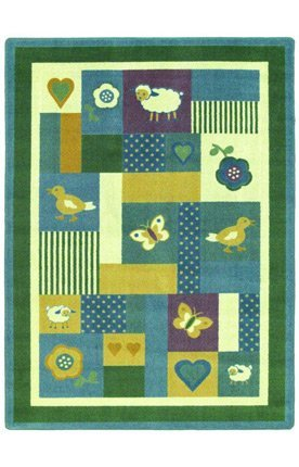 "Joy Carpets Kid Essentials Infants & Toddlers Baby Love Rug, Soft, 5'4"" x 7'8"""